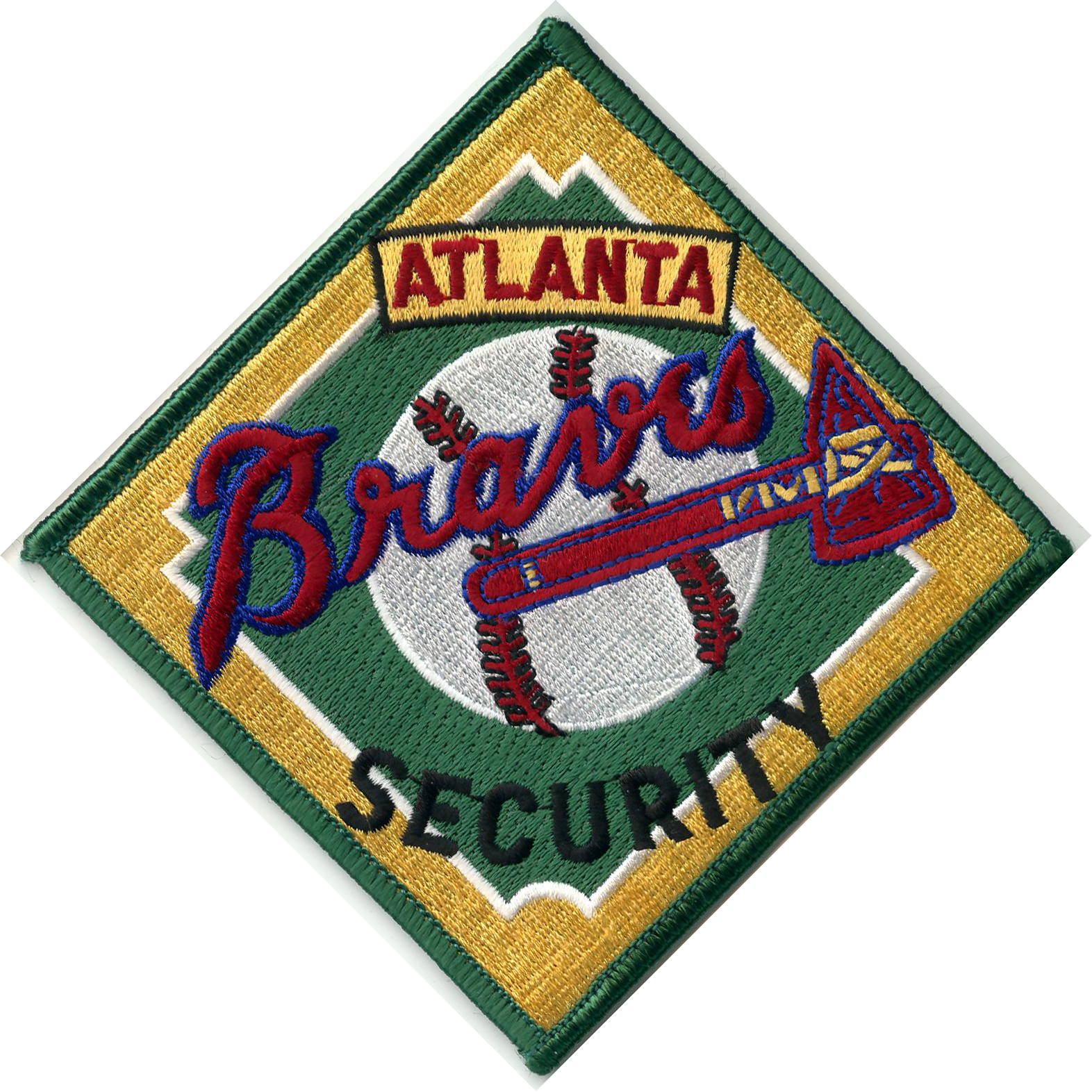 Atlanta braves security embroidered patch